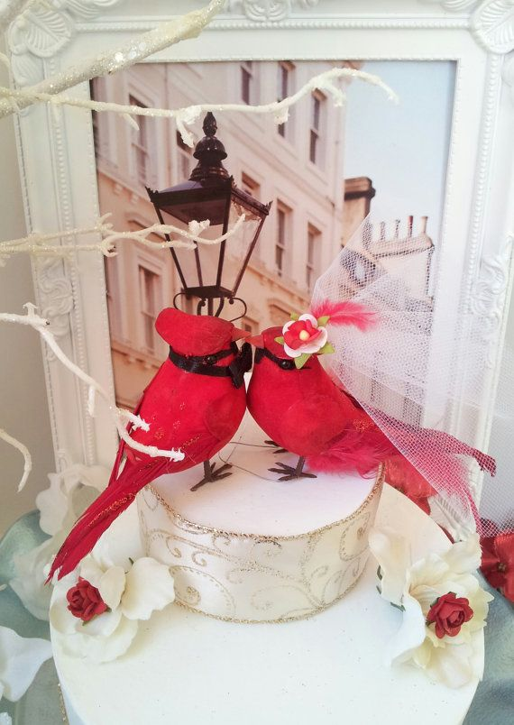 RESERVED LISTING cutest cardinal couple love birds wedding ...