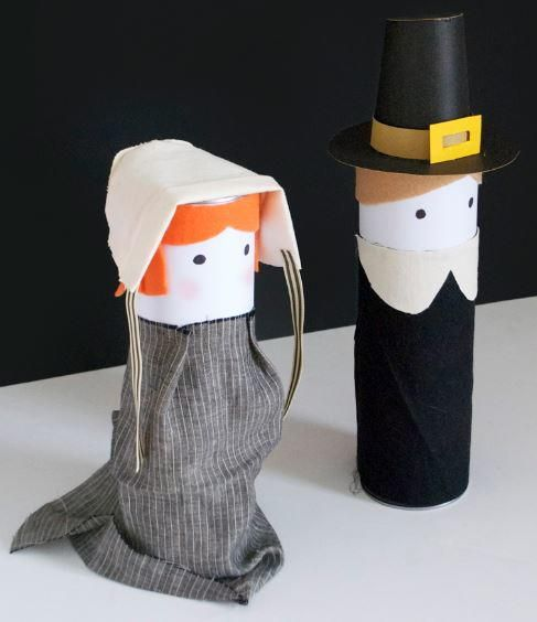 Pilgrim Recycled Craft Idea | An adorable Thanksgiving craft for the kids!