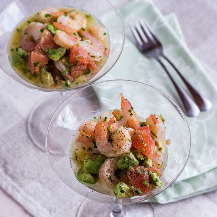 cannot wait to try this appetizer ::Shrimp, Avocado and Red Grapefruit | Low-Carb, So Simple!