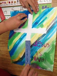 Apples and ABC's: Easter Cross