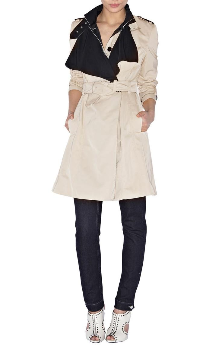 Karren Millen Camel Coat-Karen Millen Cl007 Stone Tailored Mac Coat :
