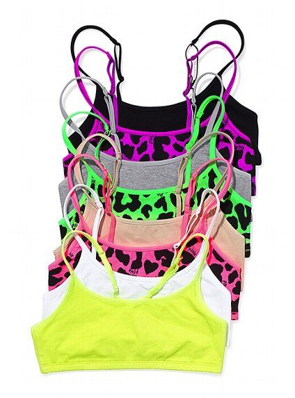 Cute array of sports bras... wish this was all the support I needed.