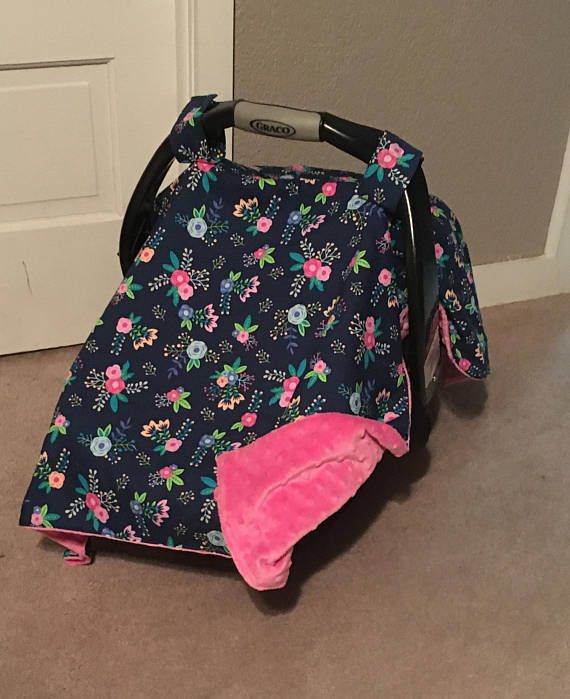 Floral Car Seat Cover Girl Carseat Cover Baby Car Seat