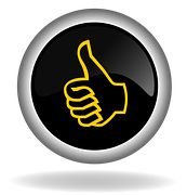 Thumb Up, Like, Button, Icon, Back