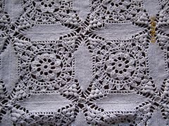 Cathedral Window Tablecloth Vintage Crochet Pattern eBook