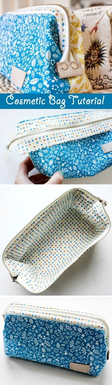 How to sew a cosmetics bag with a frame. Tutorial in pictures. http://www.handmadiya.com/2015/09/cosmetic-bag-with-frame-tutorial.html - bags, messenger, pack, book, ysl, lunch bag *ad