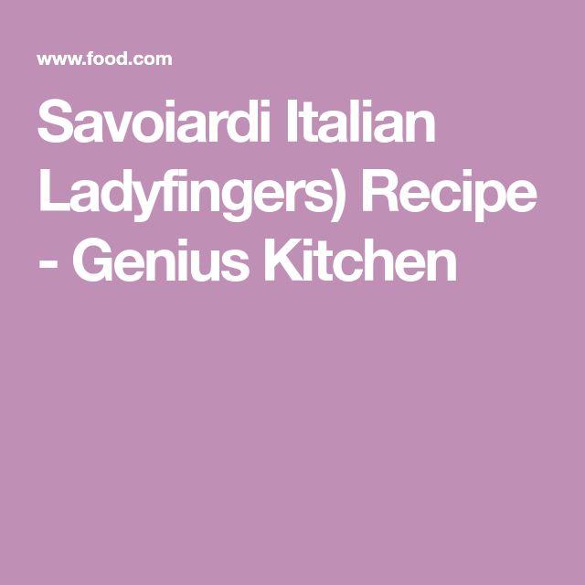 Savoiardi Italian Ladyfingers) Recipe - Genius Kitchen