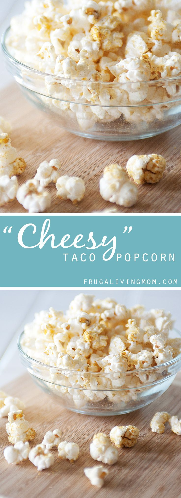 """""""Cheesy"""" Taco Popcorn (Tastes like Doritos!) Perfect for school lunches. #glutenfree Look for Nutritional Yeast in WinCo Bulk Foods!"""