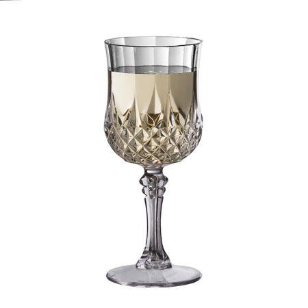 8 oz Crystal-Like Disposable Plastic Wine Glasses