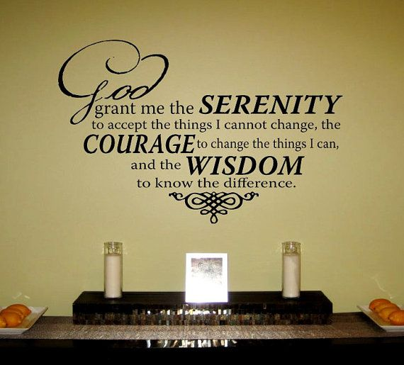 Serenity Prayer Vinyl Wall Art Decal by designstudiosigns on Etsy, $32.50
