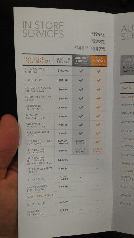 The geek squad services prices taking advantage of ignorance and
