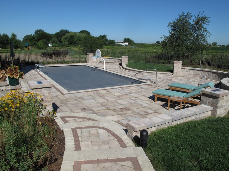 Rectangle Pool With Automatic Cover Built In Frankfort, IL By Aqua Pools