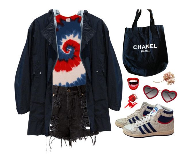 """""""Untitled #815"""" by mywayoflife ❤ liked on Polyvore featuring Dior Homme, adidas, Chanel and Markus Lupfer"""