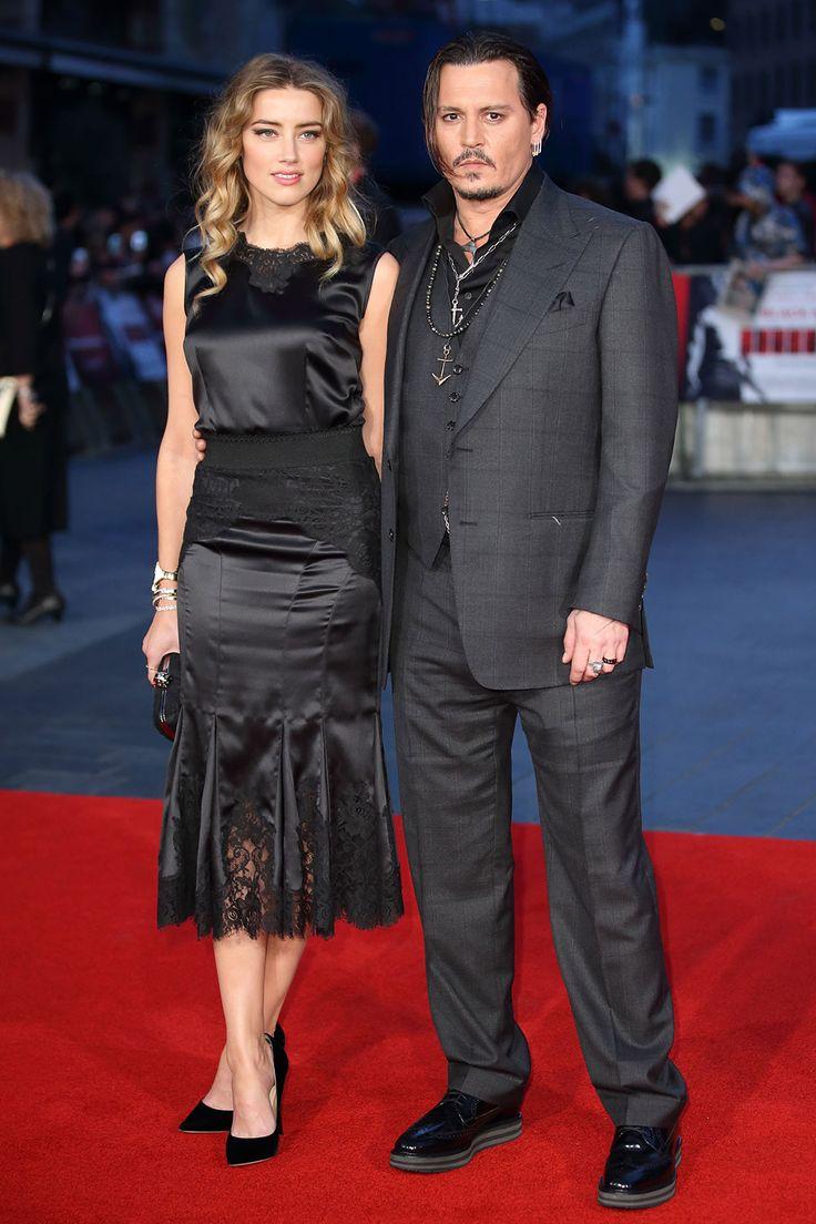 Amber Heard and Johnny Depp - Best dressed celebrities this week: 12 October - The Duchess of Cambridge, Kendall Jenner, Benedict Cumberbatch and Emma Stone | Harper's Bazaar