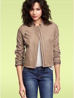 Gap womens leather jacket