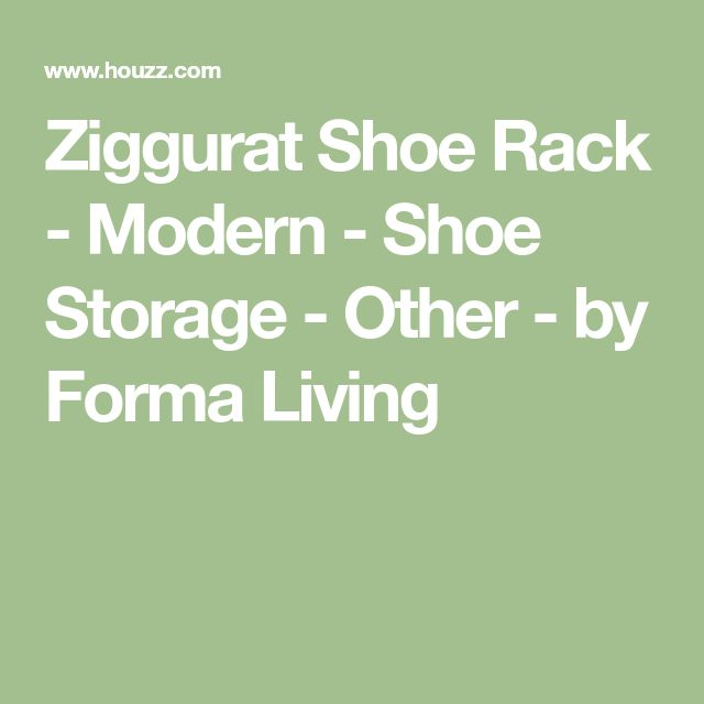 Ziggurat Shoe Rack - Modern - Shoe Storage - Other - by Forma Living
