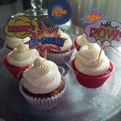 Topper para cupcakes de superhéroes. #comics #cupcakes