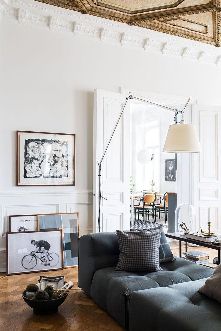 Scandinavian Apartment, Historical Interior, Home Decor Living Room, Double  Doors