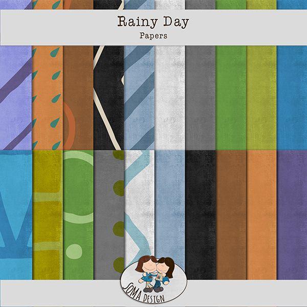 Oscraps.com :: Shop by Category :: All New :: SoMa Design: Rainy Day - Kit