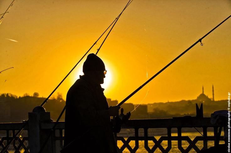 Fishing on Galata bridge, Istanbul