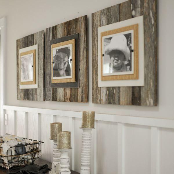 Reclaimed Large Weathered Wood Coastal Frame | bambeco