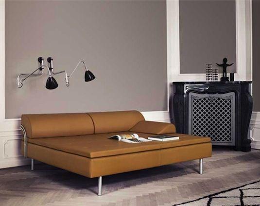 Diva upholstered daybed designed by Gubi Olsen.  Available at SUITE New York.