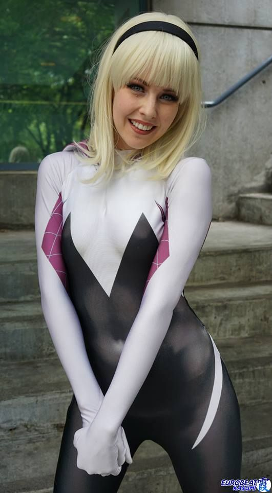 Character: Spider-Gwen (Gwen Stacy) / From: MARVEL Comics 'Edge of Spider-Verse' & 'Spider-Gwen' / Cosplayer: Maid of Might Cosplay