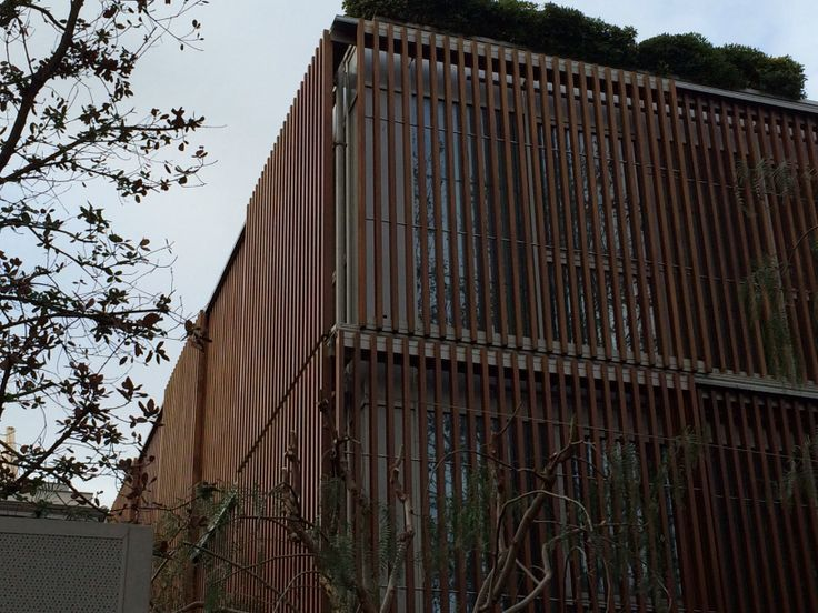 Hotel in Barcelona with interesting timber facade