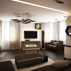 Salas de estar minimalistas por Polovets & Tymoshenko design studio