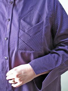Would look really cool on a men's shirt, robe or jacket! - DLGH With Needle and Brush: Purple Stripes on the Double