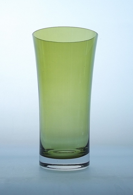 Riihimaki olive green coloured cased glass vase by art-of-glass