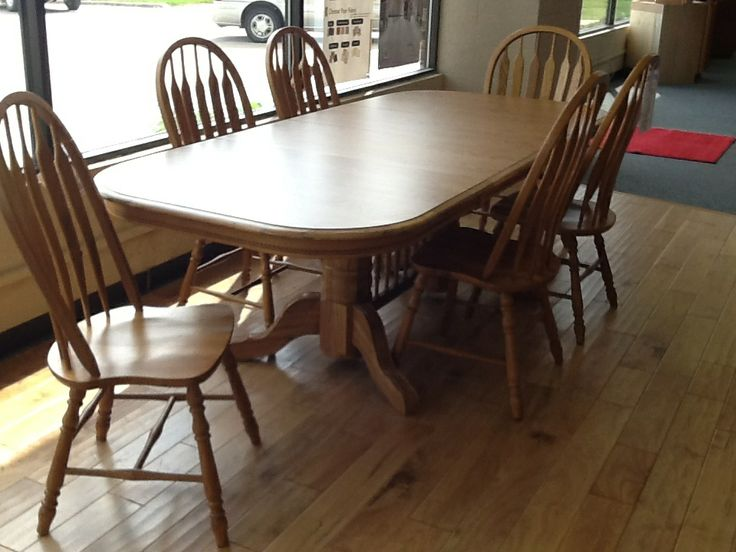 Brooks Solid Oak Dining Table W Laminate Top Amp 6 Chairs