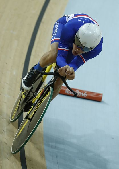 France's Thomas Boudat competes in the Men's Omnium Individual Pursuit track…