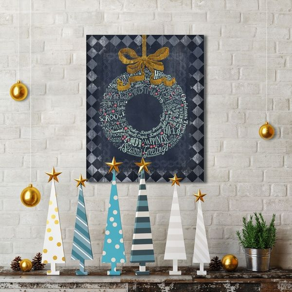Portfolio Canvas Decor Studio Voltaire 'Christmas Wreath' Holiday Canvas Print Wall Art