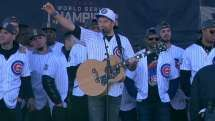 Eldredge leads Cubs in singing 'Go Cubs Go'