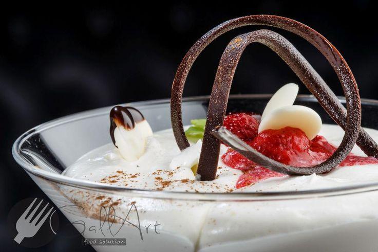 Duo Mousse de ciocolată - un desert conceput de Gallart pentru restaurantele care își doresc un meniu flexibil.