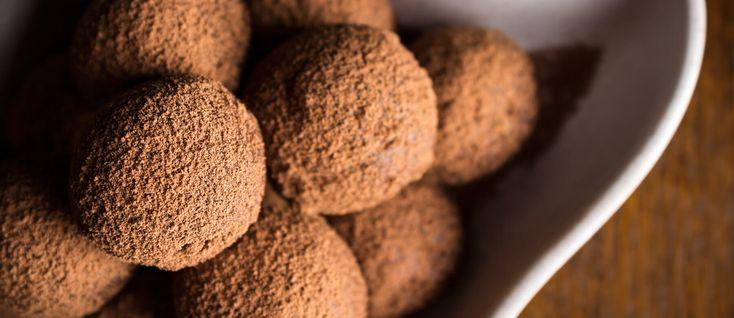 Recette de truffes au chocolat Saint‑Domingue.