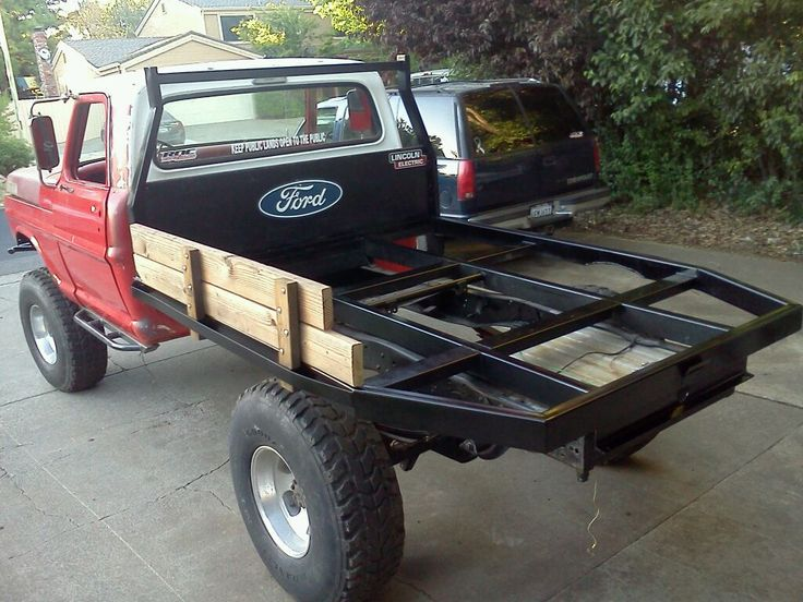 I want a custom flatbed for my truck. Fabricators look inside!