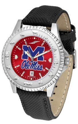 Mississippi (Ole Miss) Rebels Competitor AnoChrome Men's Watch with Nylon/Leather Band SunTime. $85.45