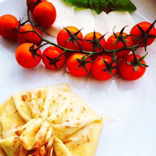 #crepes #pomodorini #stracciatella #basilico