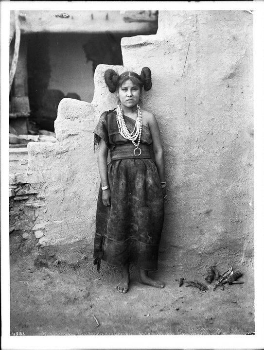 """Portrait of Young Mashonga, Hopi Arizona, ca. 1898 """"Remember who you really are, trust yourself, and open your eyes to the beauty of a new Earth unfolding before you as we breathe."""" --Hopi proverb. The Hopi People are a federally recognized tribe of American Indians, who primarily live on the 2,531.773 sq mi (6,557.26 km2) Hopi Reservation in northeastern Arizona."""