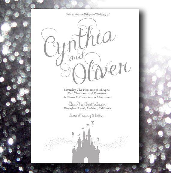 Good Fairytale Beginning   Disney Inspired Wedding Invitation