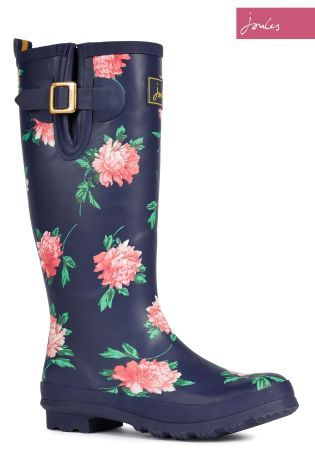 Buy Joules Navy Floral Wellington Boot online today at Next: New Zealand