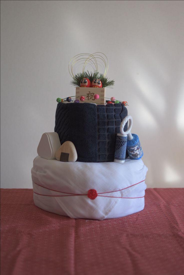 Japanese style diaper cake.
