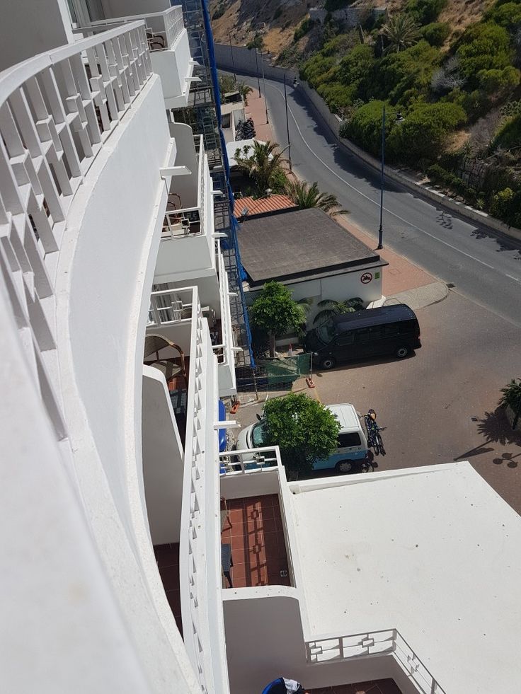 Parked down there, by the hotell at Gibraltar.