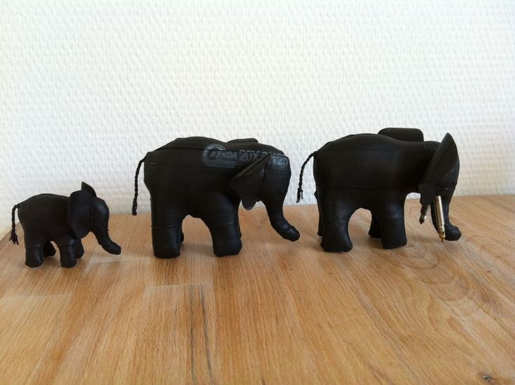 Make Elephant Of Bicycle Tubes #craft #reuse #upcycle #kids #sewing