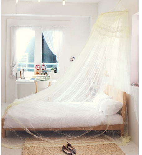 Mosquito Net Bed Canopy Pink Ivory Princess Bedding Fits Twin Queen King | eBay