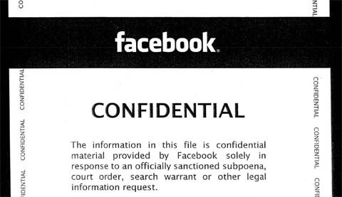 When the cops subpoena your Facebook information, here's what Facebook sends the cops  Published - click thru to article