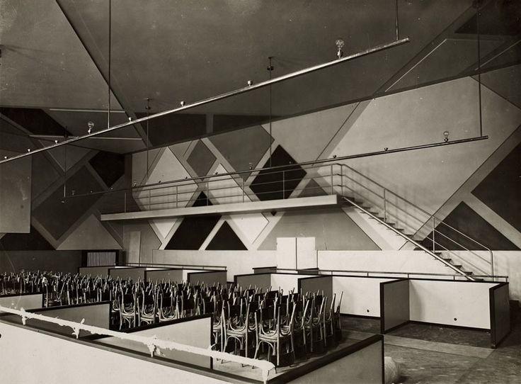 Theo van Doesburg, Hans Arp, & Sophie Taeuber-Arp, L'Aubette, Strasbourg, 1928