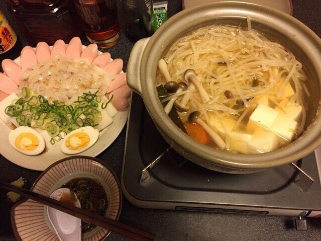 もやしでカサ増しダイエットメニュー❓(^_−)−☆ - 93件のもぐもぐ - 湯豆腐、烏賊のお刺身、魚肉ソーセージ、ゆで卵❗️꒰๑•ૅૄ•๑꒱✨ by scorpion
